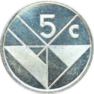 Аруба 5 центов 1993 г.