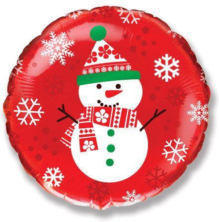 Снеговик #2 шарик с гелием фольгированный