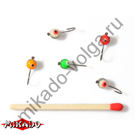 Мормышка Mikado 13-4004 / NICKEL  уп.=5 шт.