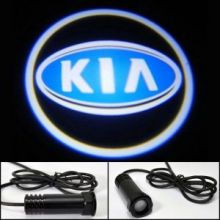 LED проекция логотипа на 2 двери, синее лого