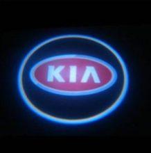 LED проекция, логотип KIA красный, на 2 двери