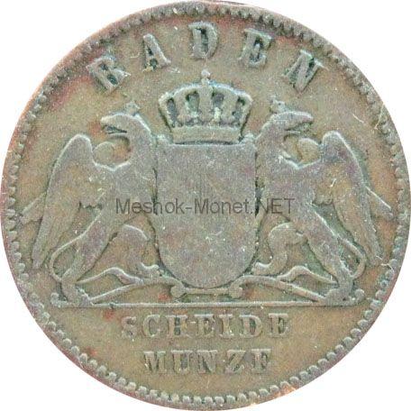 Баден 1 крейцер 1864 г.