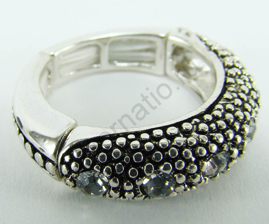 Кольцо Taya LX. T-B-6380-RING-SL.CRYSTAL