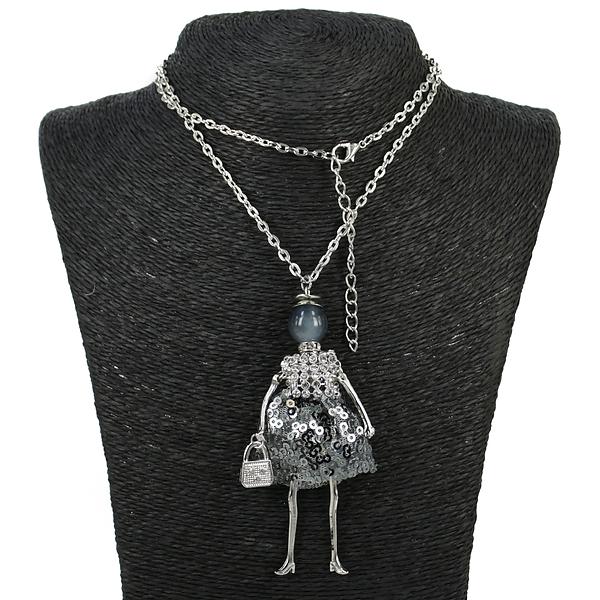 """Колье Fashion Jewelry. Колье под серебро """"Леди"""""""
