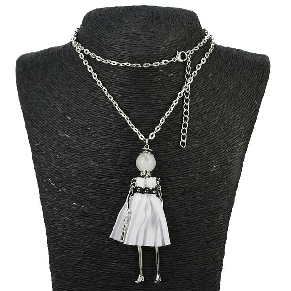 """Колье Fashion Jewelry hk-0981. Колье под серебро """"Леди"""""""