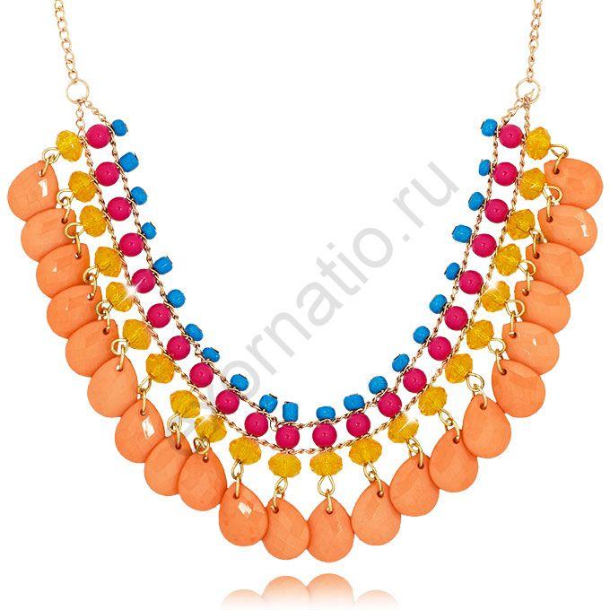 Колье Tutti Frutti 45516-9529. Колье под золото