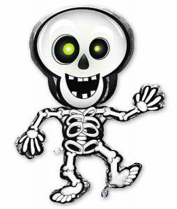 """Шар-фигура  """"Скелет танцующий"""" (89/74 см)"""