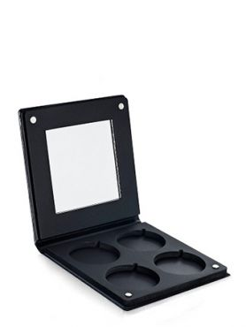 Make-Up Atelier Paris PRR 4 Палитра-кейс на 4 цвета с зеркалом для пудры, теней и румян, черная
