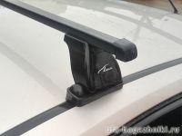 Багажник на крышу Ford Focus 2, Lux, стальные прямоугольные дуги