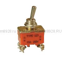 Тумблер 1221 ВКЛ-ВЫКЛ 16А 250в