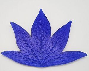 """`Молд для фоамирана """"Лист пиона, L"""", белый пластик, размер 110х140 мм"""