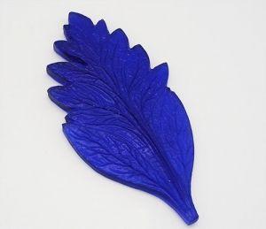 """`Молд для фоамирана """"Лист хризантемы"""", белый пластик, размер 125х60 мм"""