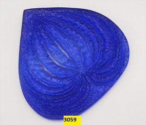 """`Молд для фоамирана """"Лист антуриума, M"""", белый пластик, размер 75х75 мм"""