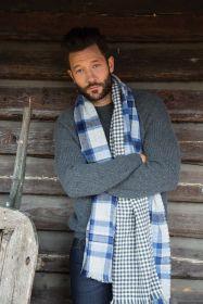 теплый широкий двусторонний  шарф (двойное полотно) Конкергуд  Сonquergood, плотность 7