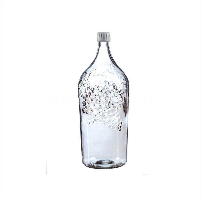 Бутыль винная Виноград, 2 литра