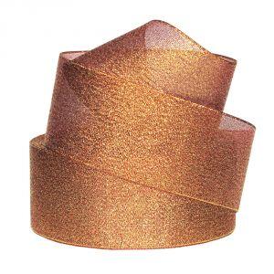 Лента металлизированная(парча) 50 мм, цвет: 3338 (Рулон 32,9 м)