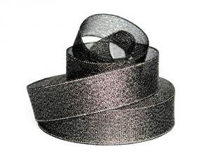 Лента металлизированная(парча) 25 мм, цвет: 3346 (Рулон 32,9 м)