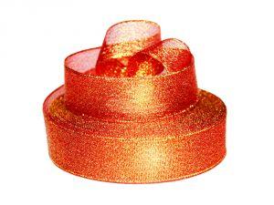 Лента металлизированная(парча) 25 мм, цвет: 3336 (Рулон 32,9 м)