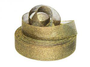 `Лента металлизированная(парча) 25 мм, цвет: 3354