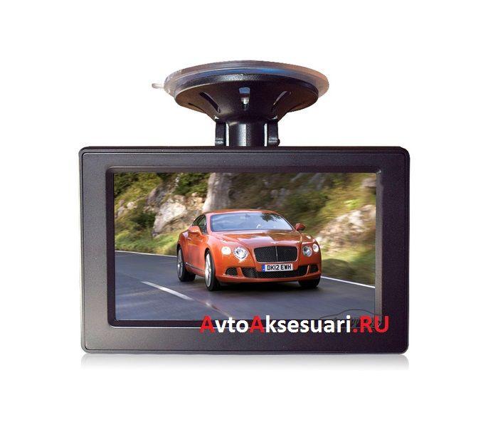 Авто монитор с присоской на стекло 4.3 дюйма