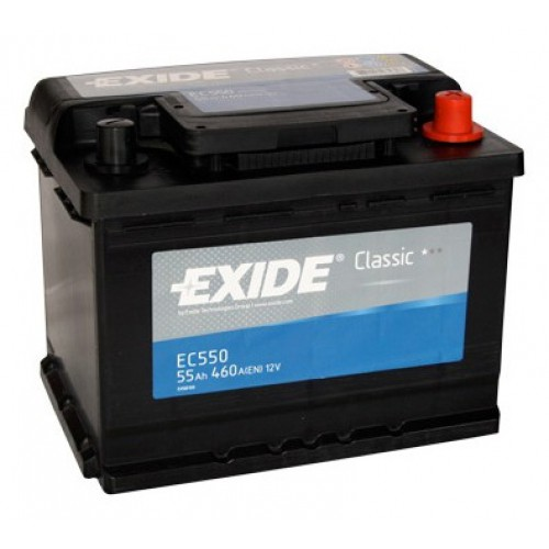 Автомобильный аккумулятор АКБ Exide (Эксайд) Classic EC550 55Ач о.п.