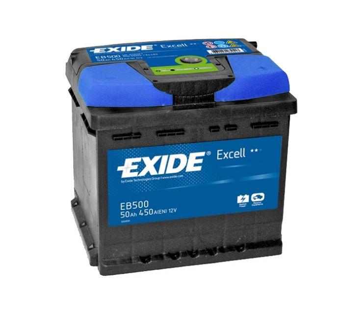 Автомобильный аккумулятор АКБ Exide (Эксайд) Excell EB500 50Ач o.п.