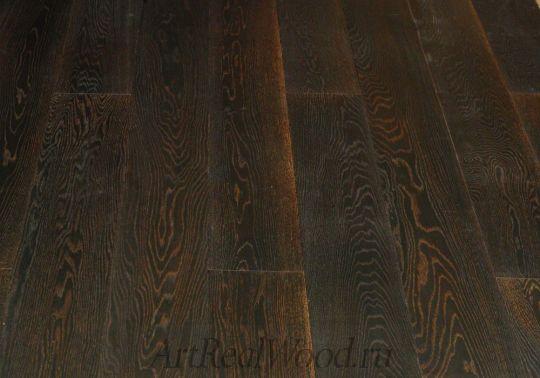Паркетная доска Дуб Антик Блэк 109 Wood Bee