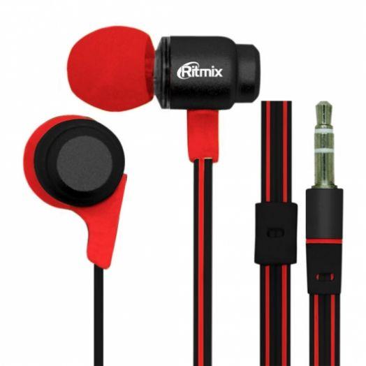 Наушники вакуумные RITMIX RH-185 Black+Red