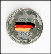 Конго 5 франков 2001 г. ЧМ по футболу. Цветная