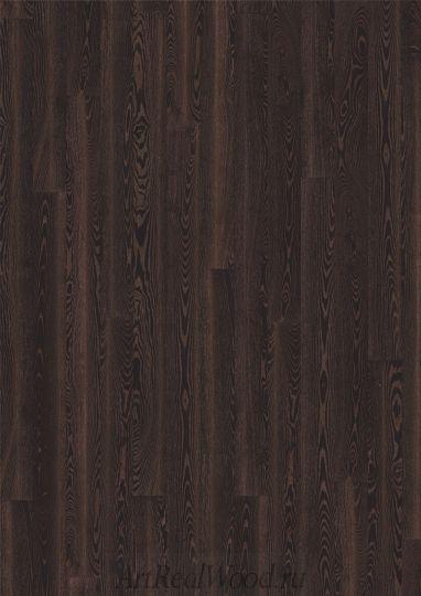 Паркетная доска Ясень Черная медь (Black Copper) Kahrs