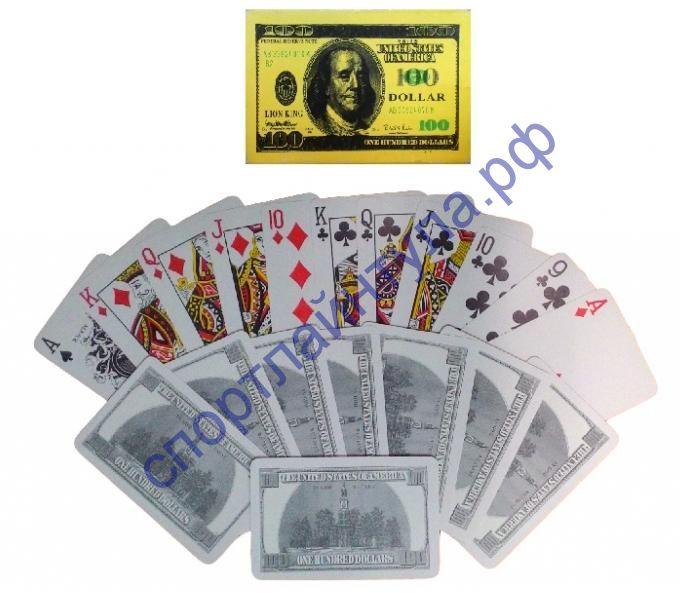 Карты пластиковые покерные Dollar, 54 листа