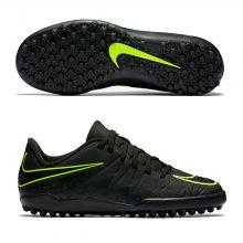 Детские шиповки-сороконожки Nike Hypervenom Phelon II TF чёрные
