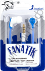 Наушники SmartBuy® FANATIK плоский двухцветный провод: белый + синий вакуум. (арт. STE-4300) СУПЕРЦЕНА !!!
