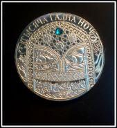 20 рублей 2006 года Беларусь 1001 ночь Белоруссия Цветной камень посеребрение Копия