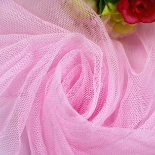 Мягкий фатин (еврофатин) 300х25 см - нежно-розовый