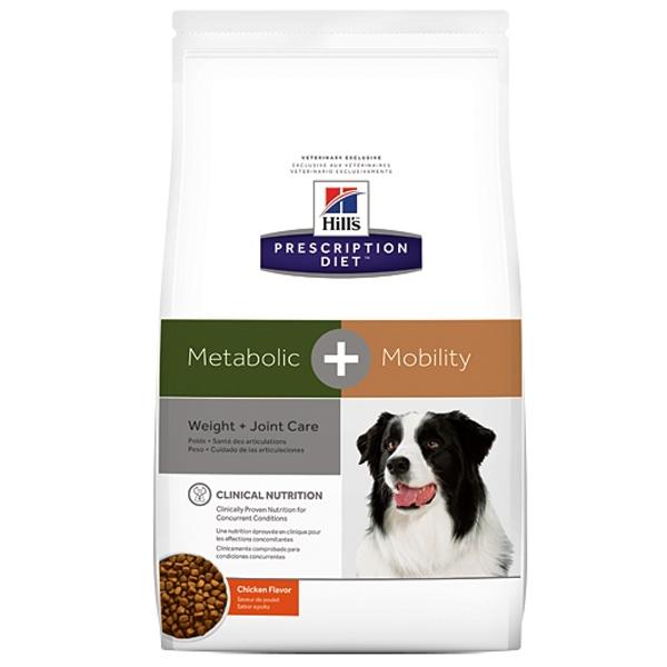 Корм сухой HILL's DIET METABOLIC MOBILITY диета для собак всех пород для контроля веса и при заболеваниях суставов 12кг