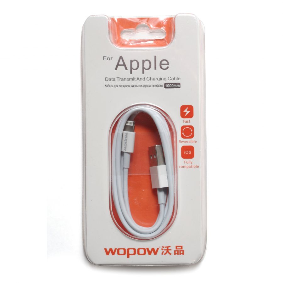 Шнур iPhone 5 - USB Wopow 1 м