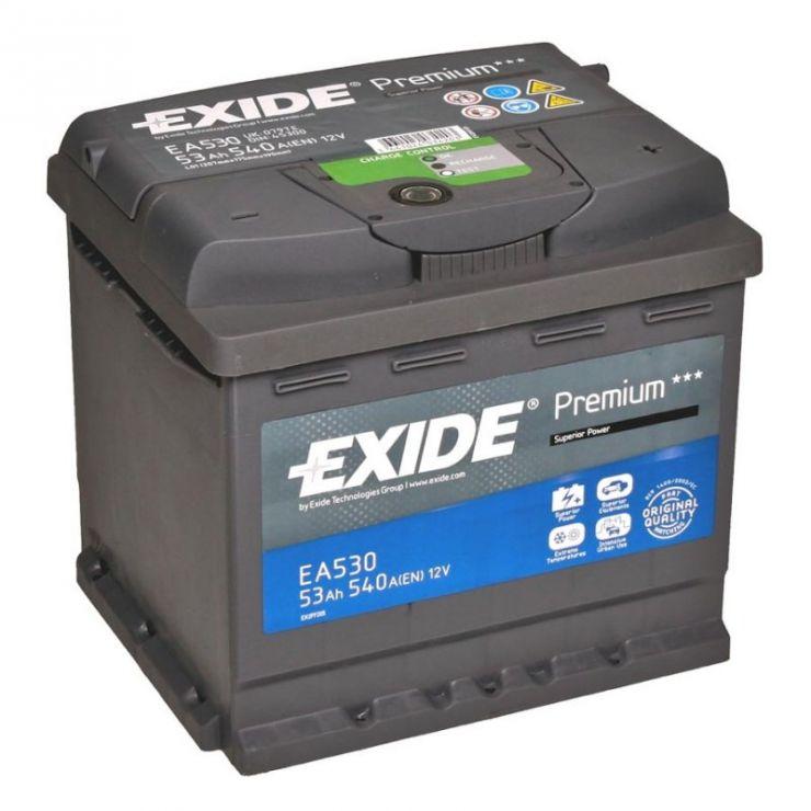 Автомобильный аккумулятор АКБ Exide (Эксайд) Premium EA530 53Ач о.п.