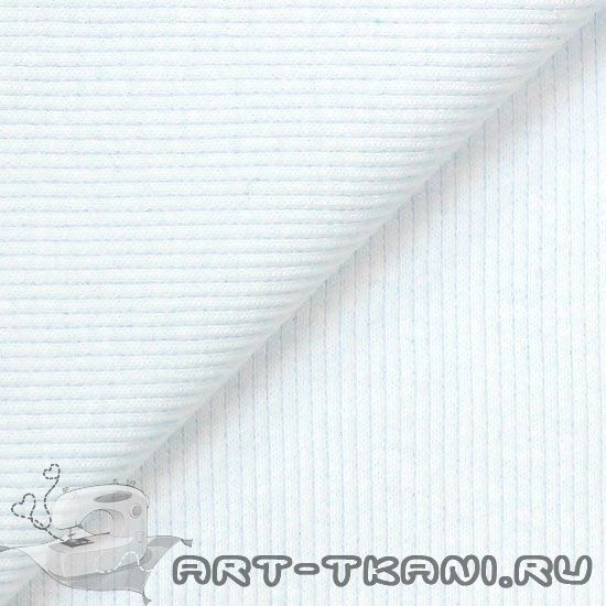 Лоскут трикотажной ткани кашкорсе Белый 50х27