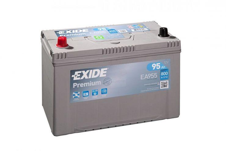 Автомобильный аккумулятор АКБ Exide (Эксайд) Premium EA955 95Ач п.п.
