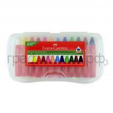 Мелки восковые 12цв.Faber-Castell Jumbo пластиковая коробка 120011