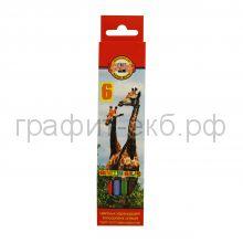 Карандаши цв.6цв.Koh-i-Noor 3551/06