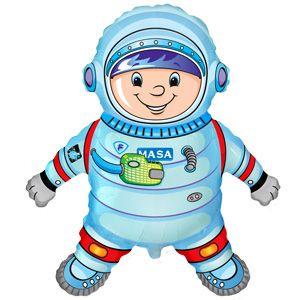 Астронавт фольгированный шар с гелием