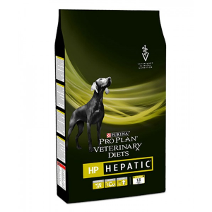 Корм сухой PURINA vet HP HEPATIC диета для собак всех пород при заболеваниях печени 3кг