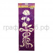 Трафарет универсальный 18х50 Букет роз В435