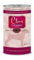Clan Classic консервы для собак (кусочки в соусе с форелью и лососем)