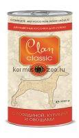Clan Classic консервы для собак (кусочки в соусе с говядиной, курицей и овощами)