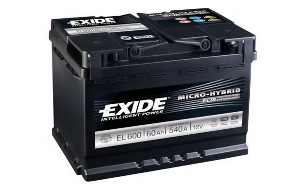 Автомобильный аккумулятор АКБ Exide (Эксайд) Start-Stop EFB EL600 60Ач о.п.