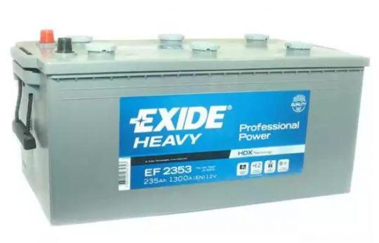 Автомобильный аккумулятор АКБ Exide (Эксайд) EF2353 235Ач о.п. (3) (евро)