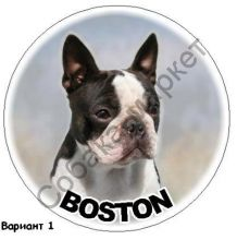 Бостон терьер наклейка Великобритания
